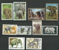Petit Lot Sur Les élèphant - Lots & Kiloware (mixtures) - Max. 999 Stamps