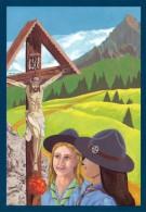 ASS. ITALIANA GUIDE E SCOUTS D´EUROPA CATTOLICI - SI PREGA DAVANTI IL CROCIFISSO - Scoutismo