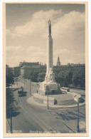 Riga 1930s Brīvības Piemineklis Freedom Monument Saule #321 - Real Photo Picture Postcard - Latvia