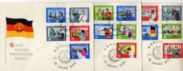 DDR 1964 - 3 Belege MiNr: 1059-1073 SStmp. Komplett - [6] Democratic Republic