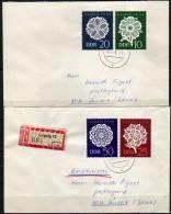 DDR 1966 - 2 Belege  MiNr: 1185-1188 Komplett - Storia Postale