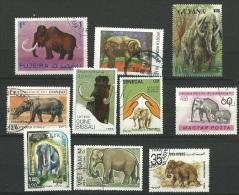 Petit Lot Sur Les élèphant , Mammouth - Lots & Kiloware (mixtures) - Max. 999 Stamps