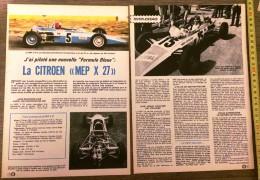 RARE DOCUMENT PUBLICITE FORMULE BLEUE CITROEN MEP X 27 - Vecchi Documenti