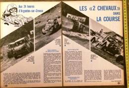 DOCUMENT CITROEN 2CV 2 CV AUX 24 HEURES H  D ARGENTON SUR CREUSE MEHARI - Collections