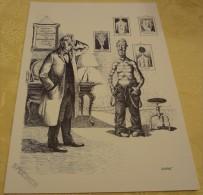 Illustration Spécimen - Claude Serre - Dermatologie, Médecine - Format 37.5 X 27 Cm - Sérigraphies & Lithographies