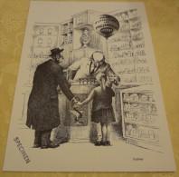 Illustration Spécimen - Claude Serre - Préservatifs Grossex - Pharmacie, Pharmacien, Médecine - Format 37.5 X 27 Cm - Sérigraphies & Lithographies