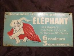 """Publicité Tôle """"ELEPHANT"""" - Advertising (Porcelain) Signs"""