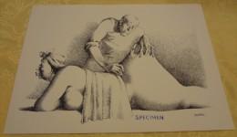 Illustration Spécimen - Claude Serre - Kinésithérapie, Masseur, Médecine - Format 37.5 X 27 Cm - Sérigraphies & Lithographies