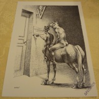 Illustration Spécimen - Claude Serre - Vétérinaire, Médecine - Format 37.5 X 27 Cm - Sérigraphies & Lithographies