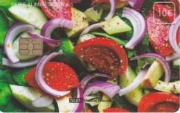 ISN-202 TARJETA DE ESPAÑA DE ISERN DE 10 EUROS DE LA SERIE ALIMENTACION  Nº5 (ENSALADA) - Alimentación