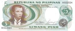 Philippines - Pick 143 - 5 Piso 1969 - Unc - Filippine