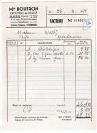 1975-Mme BOUTRON--CROUTELLE Près Ligugé-Crèmes Glacées Stromboli -Facture Pour Montamisé-86-cuisses Grenouilles - France