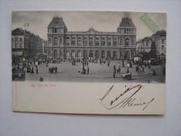BRUXELLES Lot De 2 Cartes La Gare Du Nord Et Mannekenpis Humour - Monuments, édifices