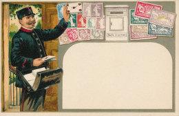 France - Postillon Mailman Postman Briefträger - Embossed Prägedruck - Early 1900s - Timbres (représentations)