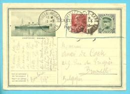 Franse Postzegel Op Postkaart (Oostende-Dover) Ontwaard Met Stempel THIONVILLE-GARE Op 19/7/30 !!! - Stamped Stationery