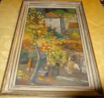 Tableau - Pastel - Signé Georges Romeny ? - Décor, Vieille Maison Du Sculpteur Krieger - Format 55 X 38 Cm - Pastels