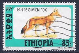 Ethiopia, Scott # 1393Q Used Simien Fox, 1994 - Ethiopia
