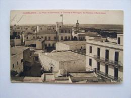 CASABLANCE MAROC Place Du Commerce Consulat D'Allemagne Rochers à Marée Basse - Casablanca