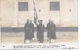 MILITAIRE - Les Journées Italiennes 14-18 Octobre 1903 - Le Drapeau Du 3e Zouaves - CARTE PHOTO - Personen