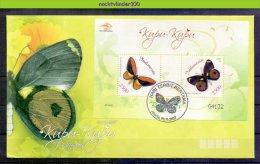 Mww029b FAUNA VLINDERS BUTTERFLIES SCHMETTERLINGE MARIPOSAS PAPILLONS INDONESIA 2007 FDC # - Mariposas