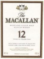 "03451 "" THE MACALLAN HIGHLAND SINGLE MALT SCOTCH WHISKY 12 TWELVE YEARS OLD - 4500 ML"" ETICHETTA ORIG. - ORIGINAL LABEL. - Whisky"