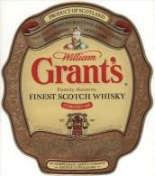 "03452 "" WILLIAM GRANT'S FAMILY RESERVE FINEST SCOTCH WHISKY"" ETICHETTA ORIG. - ORIGINAL LABEL. - Whisky"