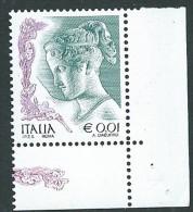 Italia 2002 ; La Donna Nell' Arte Da € 0,01 ; Angolo Inferiore Destro; Ebe; Scultura Di Antonio Canova. - 6. 1946-.. Repubblica