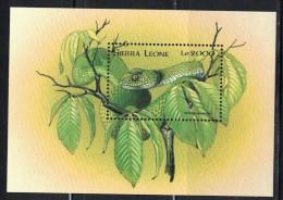 Sierra Leone. 1998. Snake. MNH SS. SCV = 4.25 - Snakes