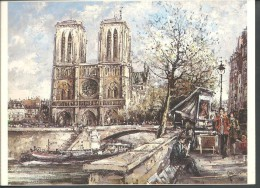 ! - France -  Paris - Notre-Dame Et Les Quais - Peinture De DUPASSANT - Places, Squares