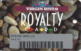 Virgin River Casino Mesquite NV - 2nd Issue Slot Card - No Mfg Mark - Red Club 1st In CARD - Casino Cards