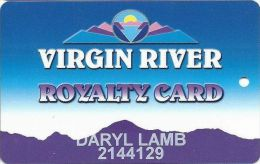 Virgin River Casino Mesquite NV - 5th Issue Slot Card - LIGHTER Purple Mountains  (Printed) - Casino Cards