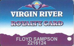 Virgin River Casino Mesquite NV - 6th Issue Slot Card - Logo Bottom Right On Back - Casino Cards