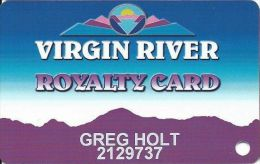 Virgin River Casino Mesquite NV - 7th Issue Slot Card - No Logo On Back, Adr Bottom Right - Casino Cards