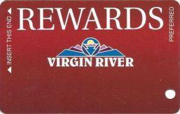 Virgin River Casino Mesquite NV - 9th Issue Slot Card - Preferred Rewards  (Blank) - Casino Cards