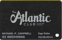 Atlantic Club Casino Atlantic City NJ - Slot Card - Casino Cards