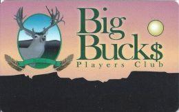 Apache Nugget Casino Dulce NM Big Buck$ Players Club Card (Blank) - Casino Cards