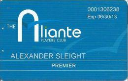 Aliante Casino Las Vegas - Premier Players Club Card With 1-877-477-7627 Phone# - Casino Cards