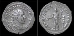 Trajan Decius AR Antoninianus Genius Standing Left - 5. L'Anarchie Militaire (235 à 284)