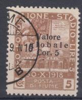 Fiume 1920 Sassone#110 Michel#84 II Used - 8. Occupazione 1a Guerra