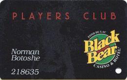 Black Bear Casino - Carlton, MN - Slot Card  (Printed) - Casino Cards