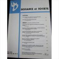 Deviance Et Societe Vol 26 N° 2 . 2002 - Livres, BD, Revues