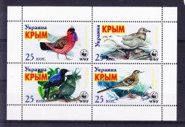 UKRAINA_, OISEAUX, WWF, ** MNH .  (5R134) - Uccelli