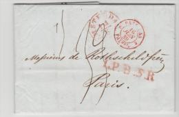 NLC035 / - NIEDERLANDE - Amsterdam 1839 L.P.B. 5.R. Nach Paris - ...-1852 Vorläufer