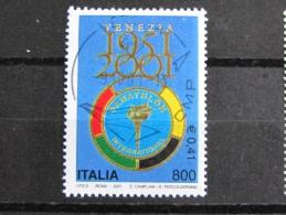 ITALIA USATI 2001 - 50° PANATHLON INTERNATIONAL - SASSONE 2551 - RIF. G 2049 - LUSSO - 6. 1946-.. Repubblica