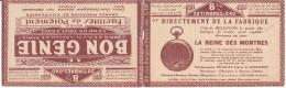 16128# CARNET VIDE S 107 RP LA REINE DES MONTRES LE BON GENIE MACHINE A ECRIRE REMINGTON ASSURANCES MOTHERSILL - Carnets