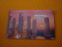 Acropolis Acropole Propylea Sunset Greek heritage - Greece prepaid phonecard - 5000 copies only (mint)
