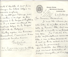 Lettres De Evelyn Cecil (3) M Of P, Son Fils Robert W. E. Cecil (2). London & Windsor 1915-1918 & Louis Weissenbruch (1) - Autographs