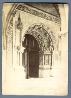 France, Portail De L'Ancienne Abbaye Notre Dame De Fontevraud  Vintage Citrate Print.  Tirage Citrate  12x17,5 - Sin Clasificación