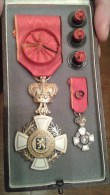 BELGIQUE - Croix Du Mérite Du Brabant ( 1ere Classe ) Dans Son Boitier Avec Sa Réduction - Belgique