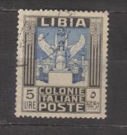 7244- Libya , Italian Colonies , Scott 30   – Used - Libya
